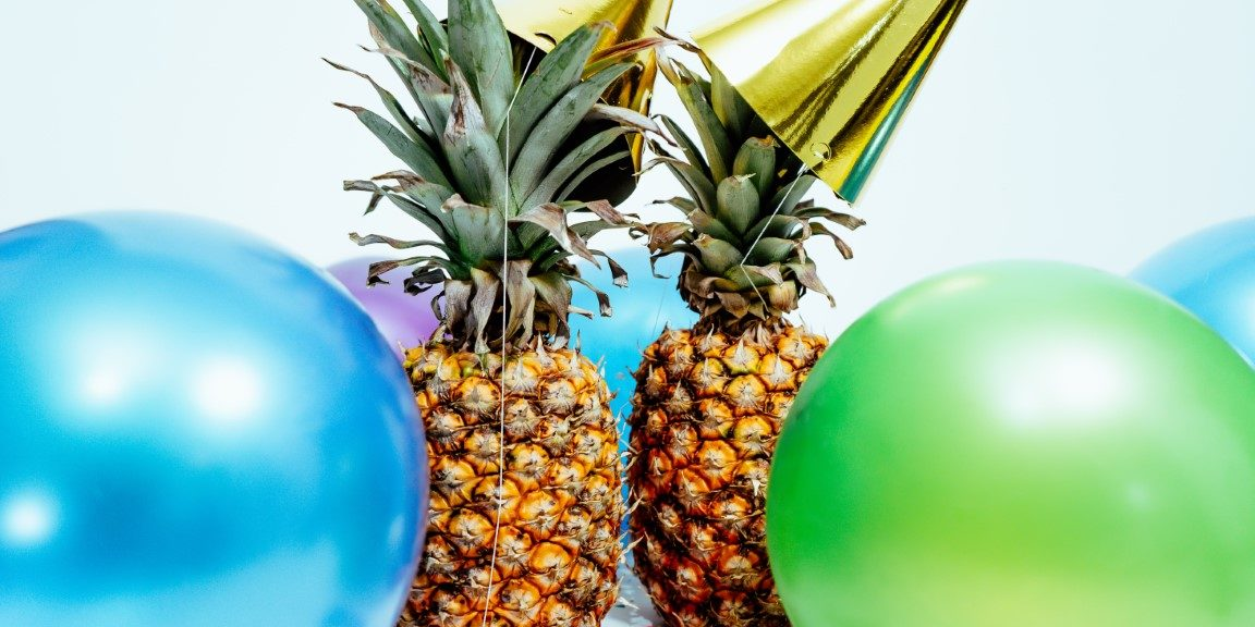 Pineapples celebrating the new year