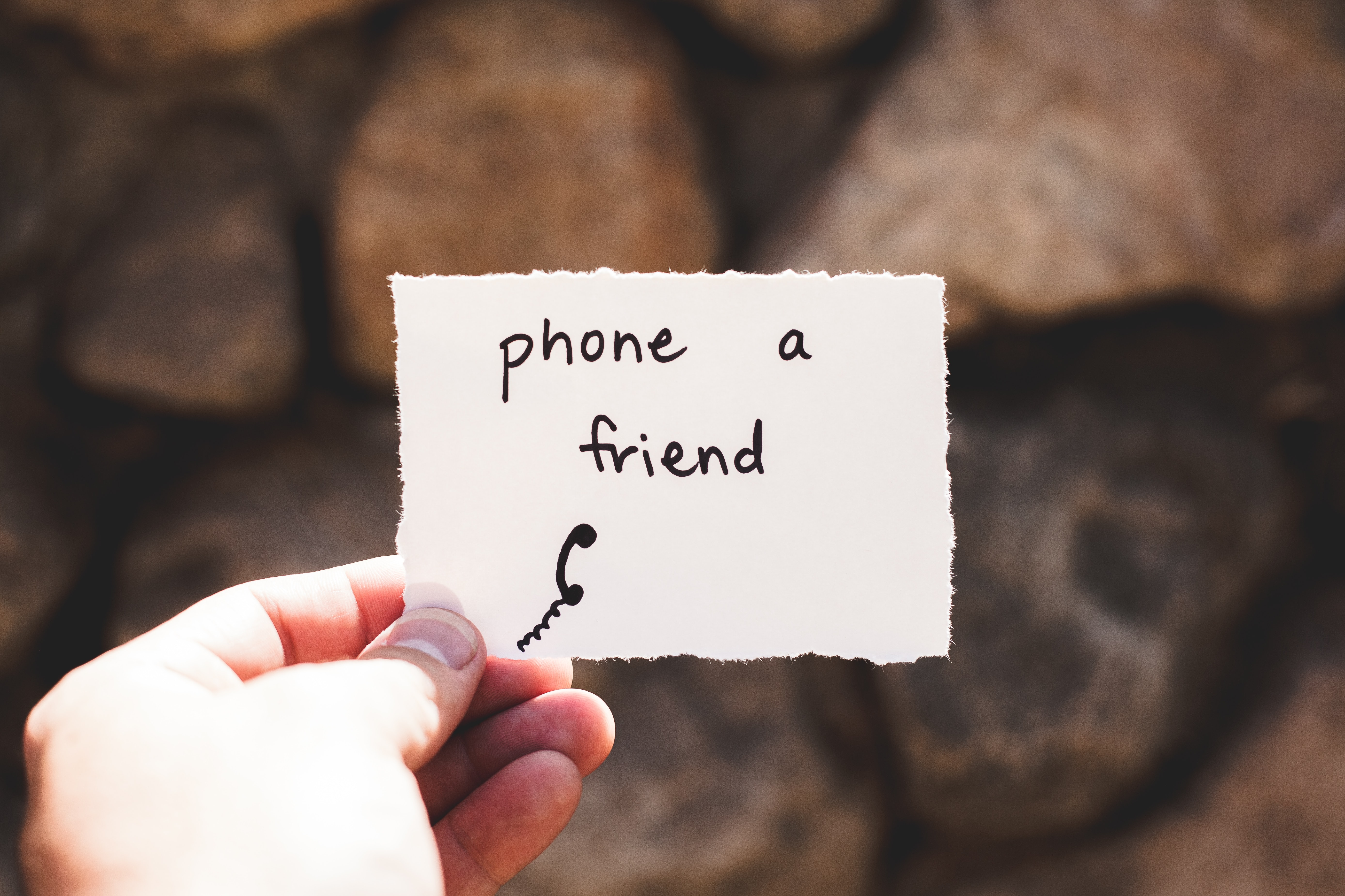 "Personal holding paper ""phone a friend"""
