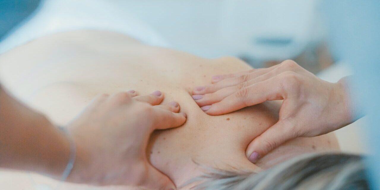 person receiving massage