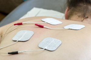 Patient Recieving Electrical Stimulation Therapy