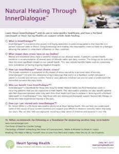 Natural Healing through InnerDialog