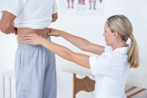 Patient Receiving Postural Therapy
