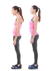 Woman with Improved Posture